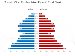 Tornado Chart For Population Pyramid Excel Chart Powerpoint