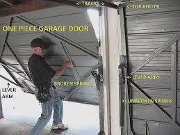 how to repair garage door spring cable new e piece garage door extension springs