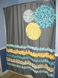 damask shower curtain monogram name custom choose col turquoise and grey yellow gray