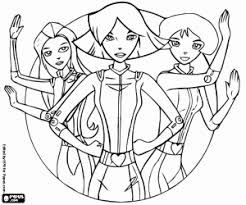 protagonists totally spie_53b532db161ff p totally spies! coloring pages printable games on totally spies coloring pages