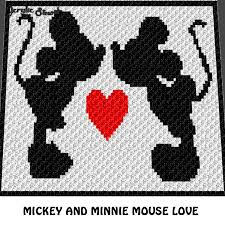 Mickey Mouse And Minnie Mouse Kiss And Heart Acrylic Stew