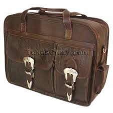 370 western tooled briefcase