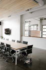 Office modern design Luxury The Lower Level Also Holds Meeting Rooms Glazed Openings Allow The Open Concept To Extend Dwell Best Modern Office Design Photos And Ideas Dwell