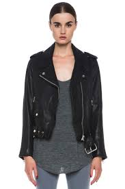 image 1 of acne studios mape leather jacket in black