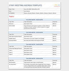 agenda template word agenda outline template 10 for word excel pdf format