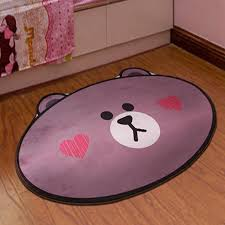cartoon bear face pattern printed carpet for living room computer chair area rugs children play tent floor mat cloakroom rug industrial rug dalton carpets