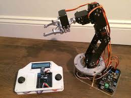 jul 15 2017 finished sainsmart 6 servo robot arm on rotatable base with remote controller