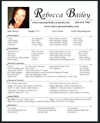 Examples Of Actors Resumes Resume Template For Actors Atlasapp Co