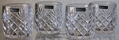 shannon crystal by inger berkshire old fashioned glasses clear set of 4 new