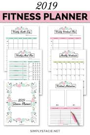 Workout Goal Chart 2019 Fitness Planner Free Printable Simply Stacie