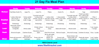 21 Day Fix Meal Chart 21 Day Fix Meal Plan Fit With Rachel