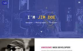 Flex - Portfolio & Resume Website Template #65538