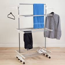 Everyday Home Rolling Stainless-Steel Drying Rack Over 8 Transitions -  Walmart.com