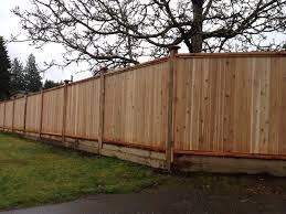 fence. SOLID CEDAR FENCE PANELS Fence