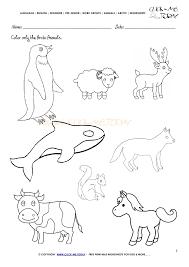 Animals Worksheet - Activity sheet Color 2