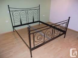 King size sturdy metal bed frame ikea noresund for sale in Glendora ...