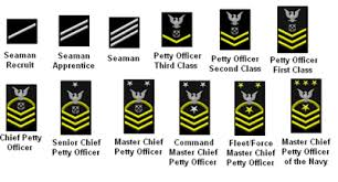 Navy Rank Insignia Chart Military Enlisted Paygrades For Ranks E1 E9