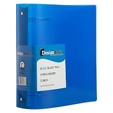 3in 3 Ring Binder Jam Paper Plastic 3 Inch Binder Blue 3 Ring Binder Sold Individually
