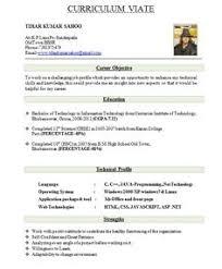 Best Resume Format Sample Resume Format Sample For Fresher Menu and Resume 81