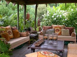Easy Patio Decorating Easy Lounging Use Your Inside Cushions For Outside Comfort