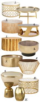 This coffee table has a unique basket design and is certainly a distinctive addition to your home decor. The Gold Round Coffee Table 12 Stylish Options Hey Djangles