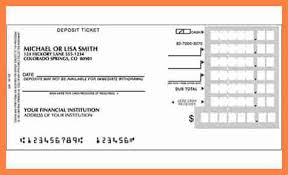 deposit slip examples 5 checking deposit slip template salary slip