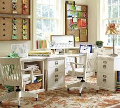 home office simple neat. Home Office: Simple Pottery Barn Desk, Neat Burlap Bulletin Boards . Office M