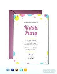 Girl Birthday Invitation Template Childrens Party Invitation Template