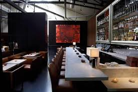 contemporary japanese wall art painting decoration of spruce restaurant san francisco