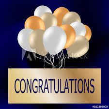 Congratulation Party Decorations Congratulations Card With Cute Colorful Balloons Festive Blue