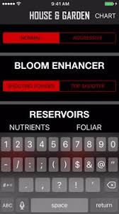 House And Garden Nutrients Chart House Garden Nutrient App By Humboldt Wholesale Inc