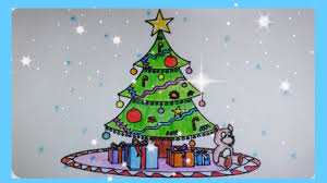 christmas tree with presents drawing. Fine Presents How To Draw A Beautiful Christmas Tree Inside Tree With Presents Drawing T