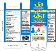 Advil Dosage Chart Infants Advil Suspension Drops Wyeth Consumer Healthcare Llc