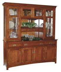 China Cabinet With Hutch Amish Arts Amp Crafts Mission Hutch Buffet Server China Cabinet