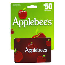 applebees 50 gift card1 0 ea