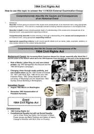 civil rights movement and the s scavenger hunt 1964 civil rights act 1 5 essay outline 2013
