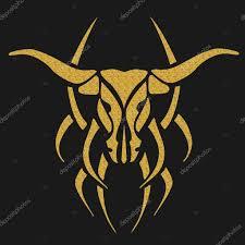 татуировки быка иллюстрация золото тату бык стоковое фото