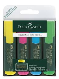 Набор <b>маркеров Faber-Castell Textliner REFILL</b> 1548 (4 цвета ...