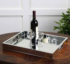 Decorative Glass Trays Amazon Modern Mirrored Glass Serving Tray Decorative Bar 66