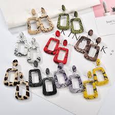 MESTILO New Oversize <b>Geometric</b> Drop Earrings for <b>Women</b> Punk ...