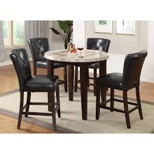 dark espresso and marble pub round dining table montreal rc willey furniture