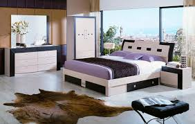 splendid purple bedding and brown leather carpet contemporary bedroom furniture at attic image brown leather bedroom furniture