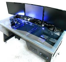 build custom computer desk s to custom built pc desk