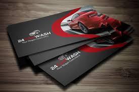 Car Wash Visiting Card Design Car Wash Business Card Mode Cmyk Dpi Color Car Wash