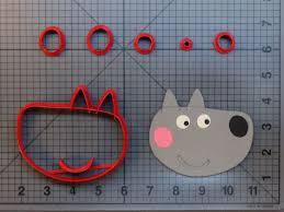 Peppa Pig - Wendy Wolf 266-B235 Cookie Cutter Set