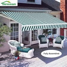 Diensweek 10x8 Patio Awning Retractable Manual Commercial
