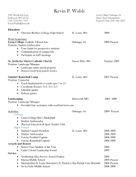 Internship Resume Examples For College Studentslate Word Free