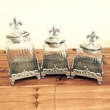 square clear glass canisters stackable storage jars