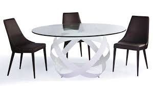 mambo clear glass top dining table zuri furniture mambo diningta
