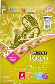 Kitten Chow Naturals Dry Cat Food 13 Lb Bag